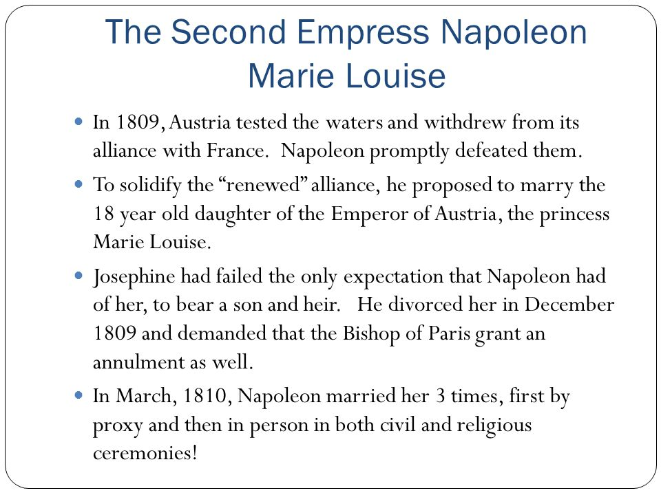 The Second Empress Napoleon Marie Louise