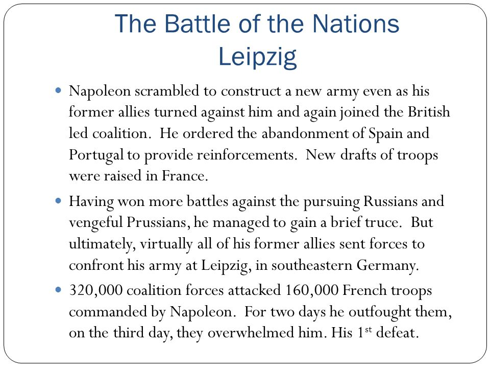 The Battle of the Nations Leipzig