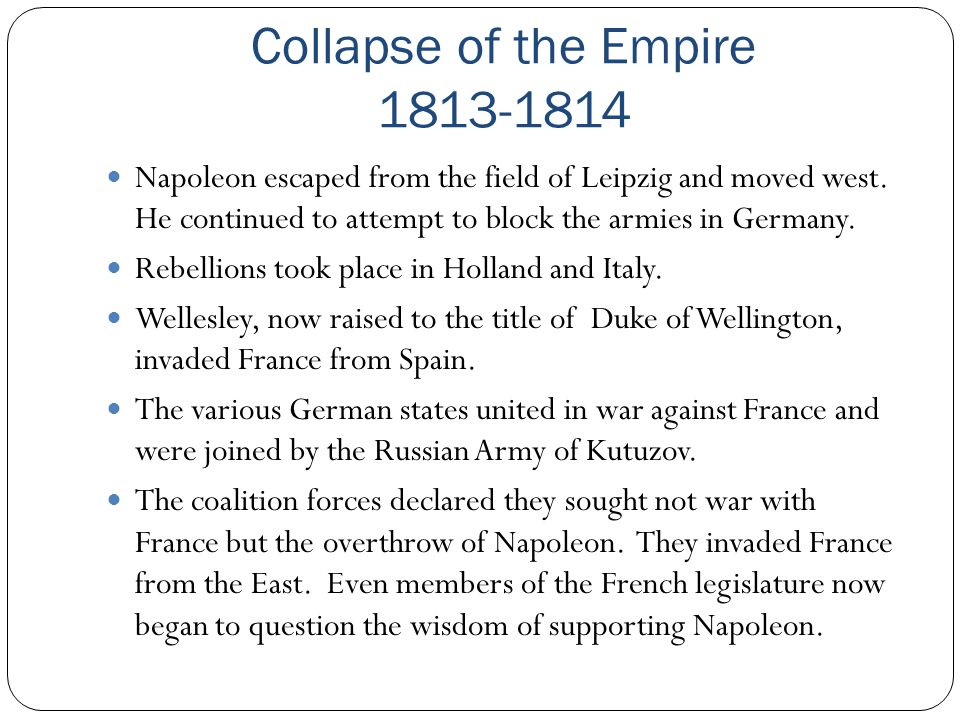 Collapse of the Empire 1813-1814