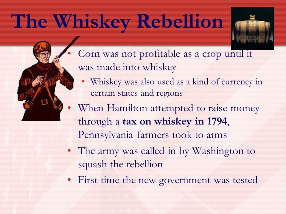 The Whiskey Rebellion Corn was not profitable as a crop until it was made into whiskey.