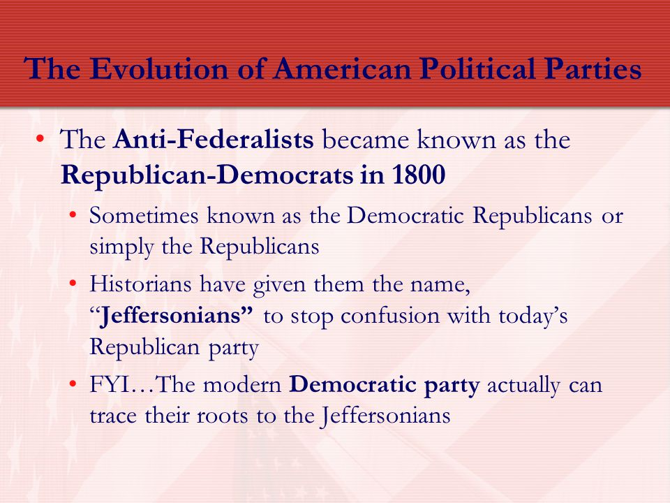The Evolution of American Political Parties