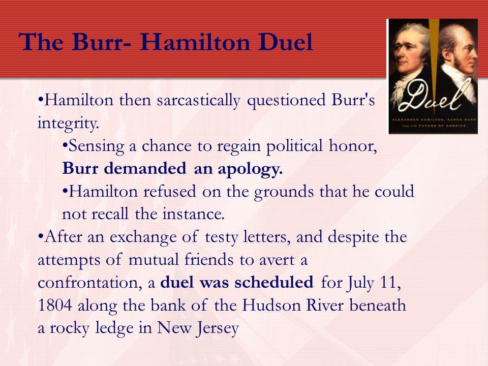 The Burr- Hamilton Duel
