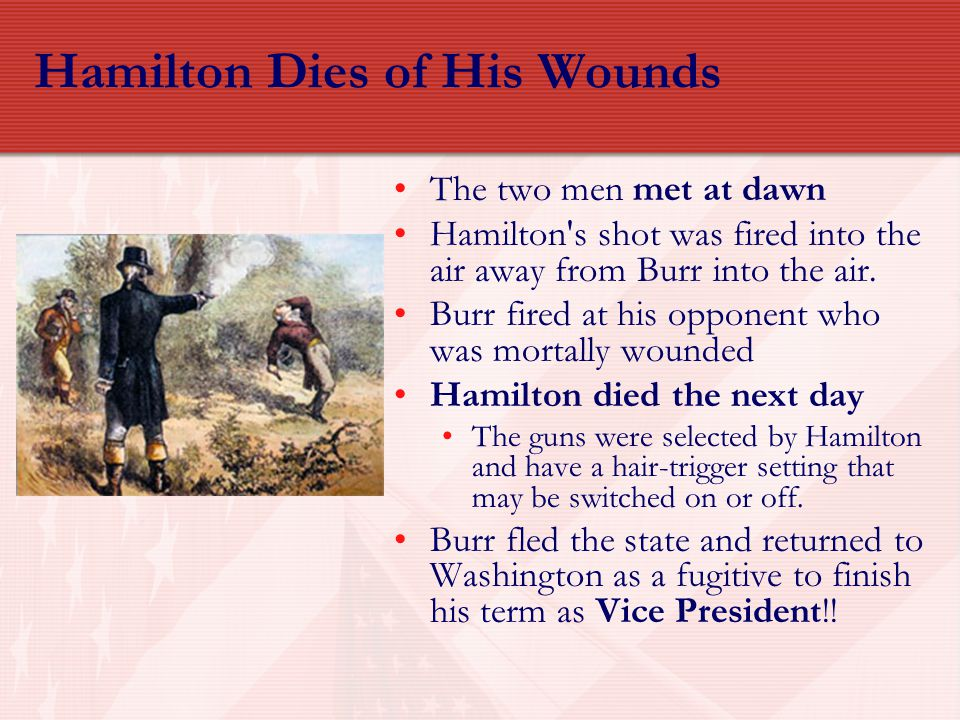 Hamilton Dies of His Wounds