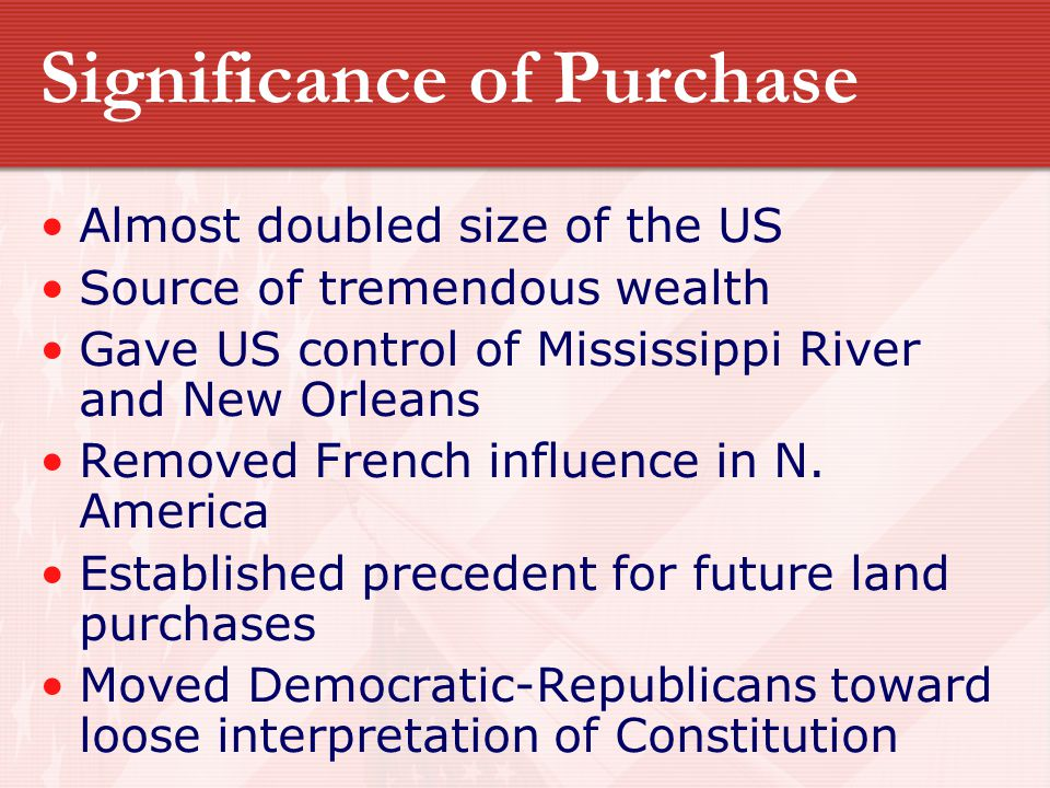 Significance of Purchase