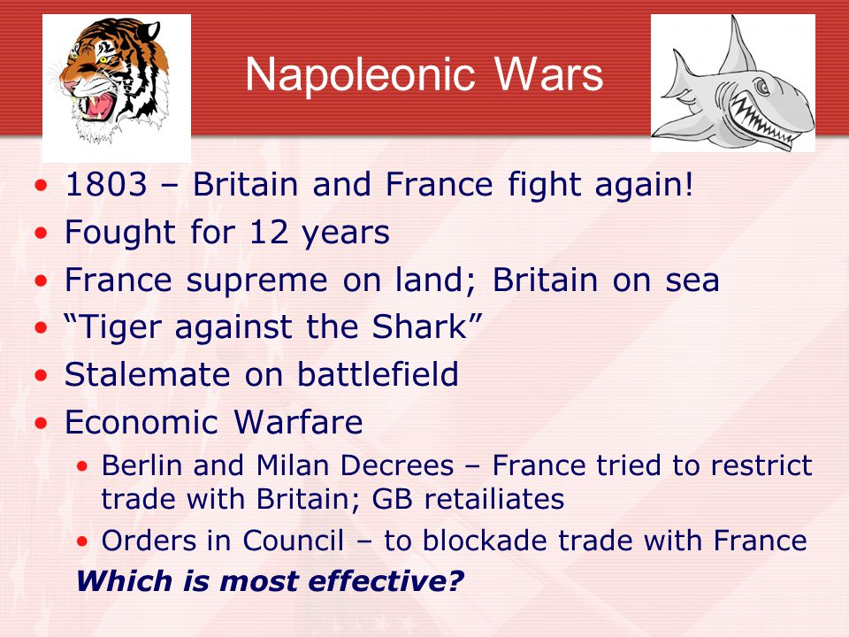 Napoleonic Wars 1803 – Britain and France fight again!