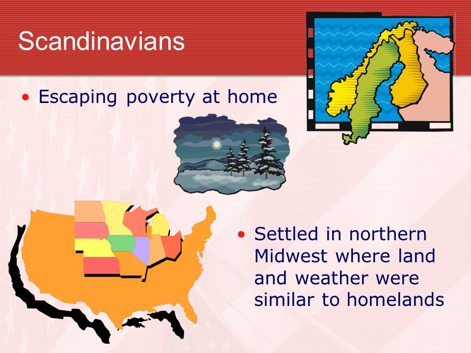 Scandinavians Escaping poverty at home