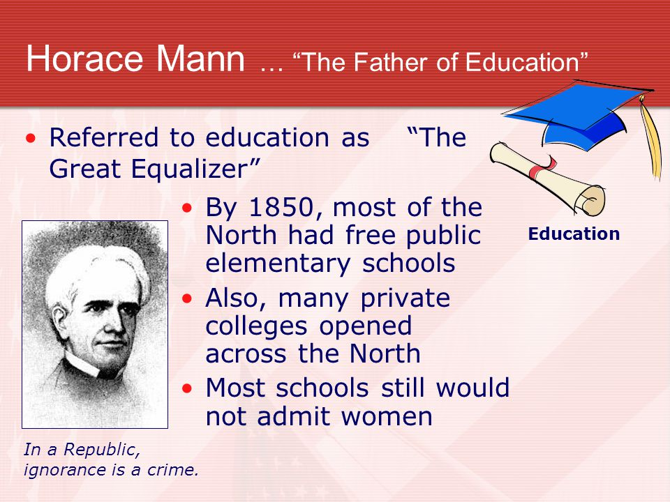 Horace Mann … The Father of Education