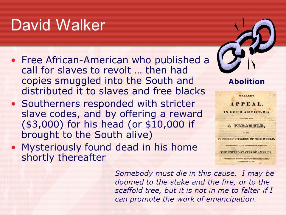 David Walker Abolition.