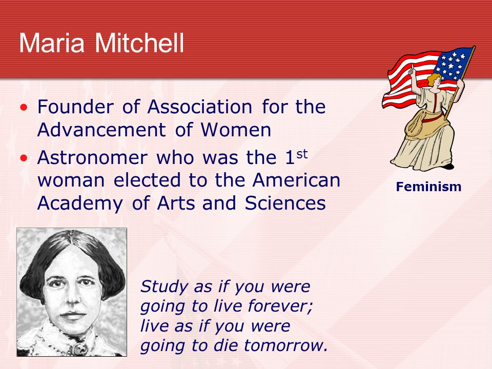Maria Mitchell Founder of Association for the Advancement of Women
