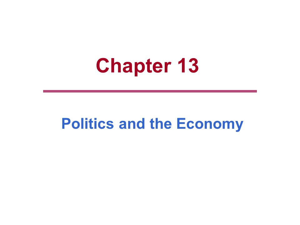 Politics and the Economy