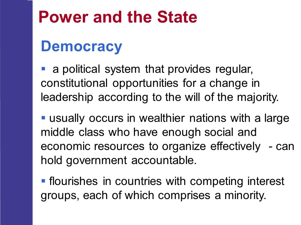 Power and the State Democracy