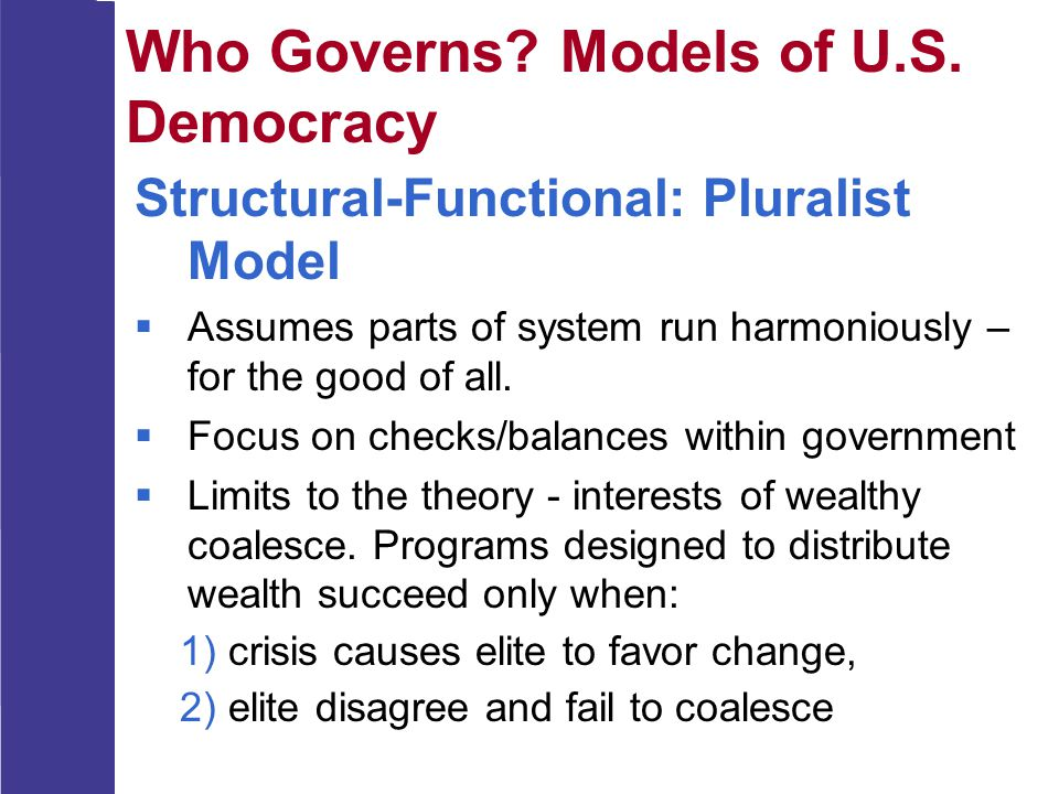 Who Governs Models of U.S. Democracy