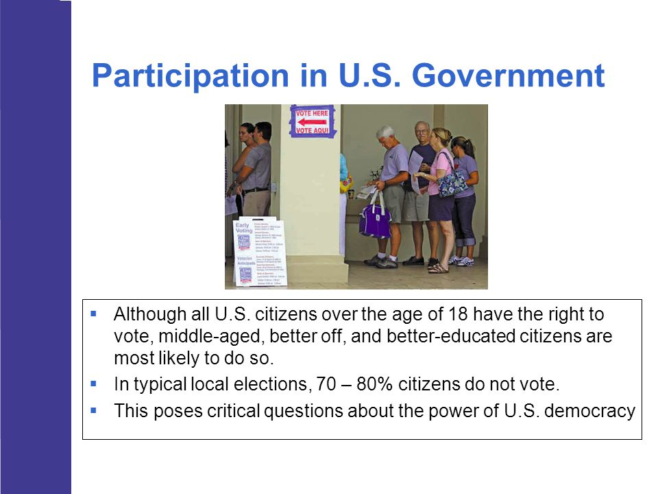 Participation in U.S. Government