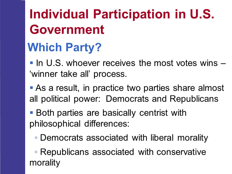Individual Participation in U.S. Government