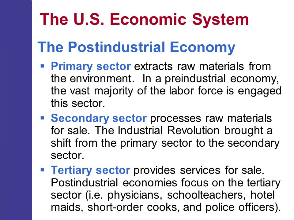 The Postindustrial Economy