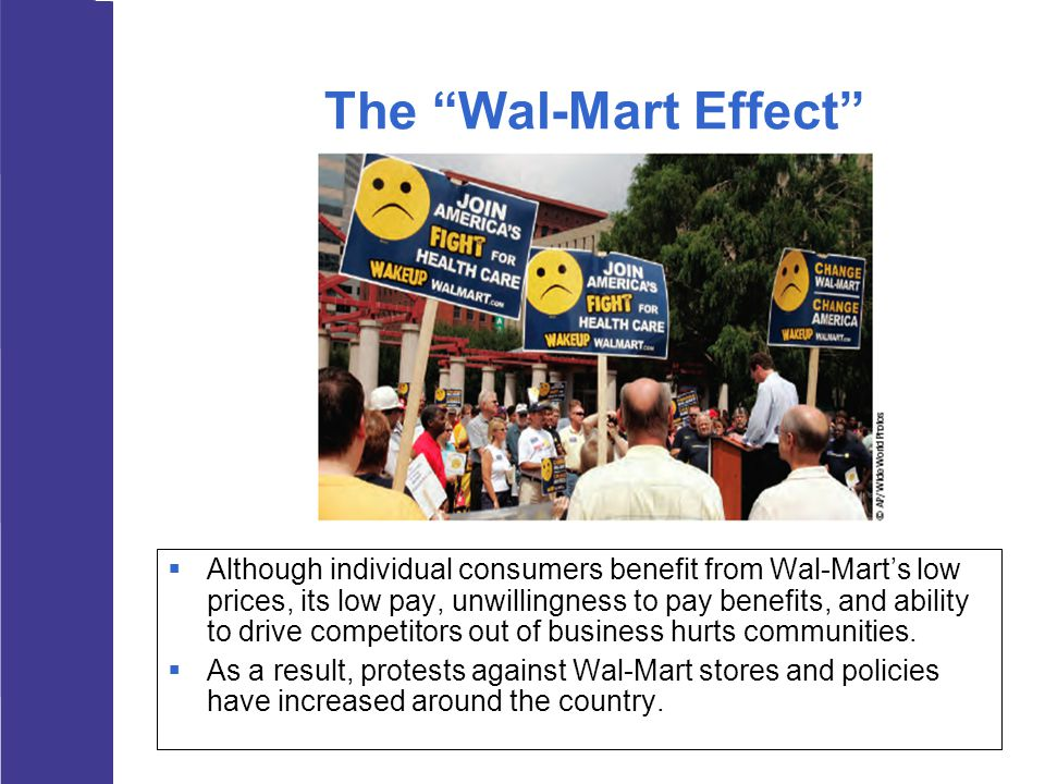 wal mart effects the economy We estimate the effects of wal-mart stores on county-level retail employment and earnings, accounting for endogeneity of the location and timing of wal-mart ope.