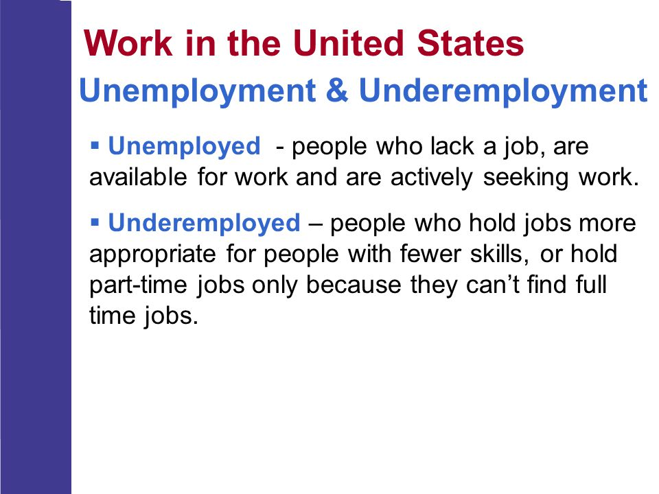 Work in the United States