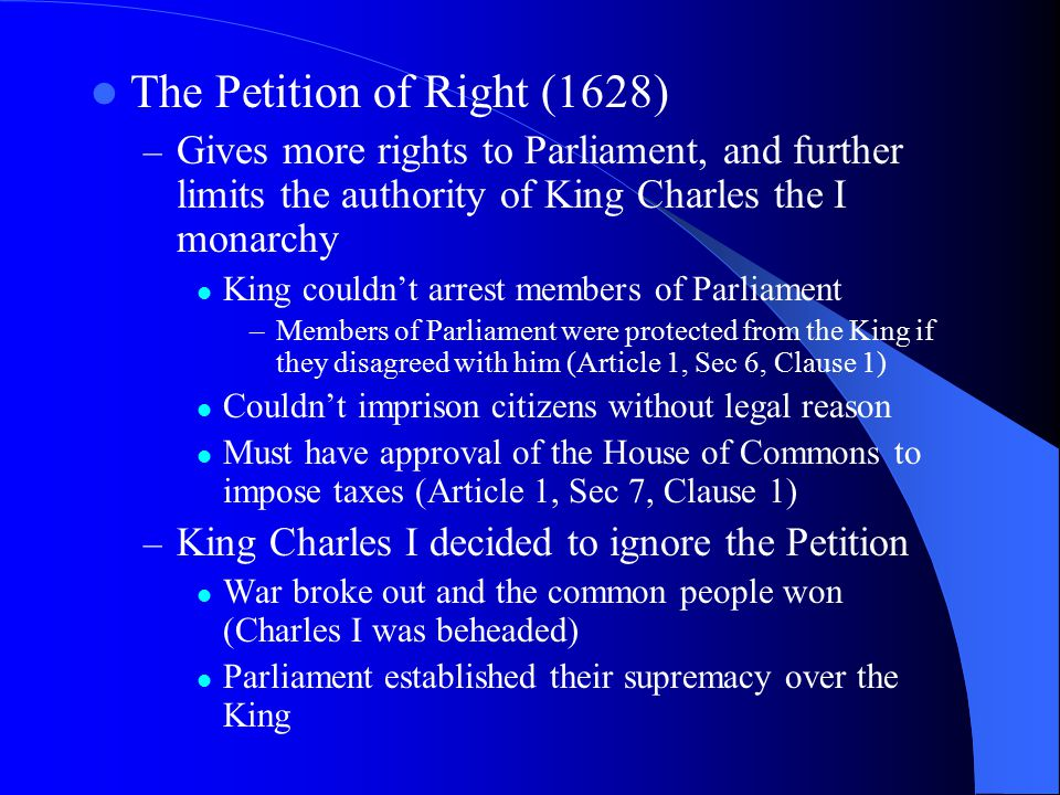 The Petition of Right (1628)