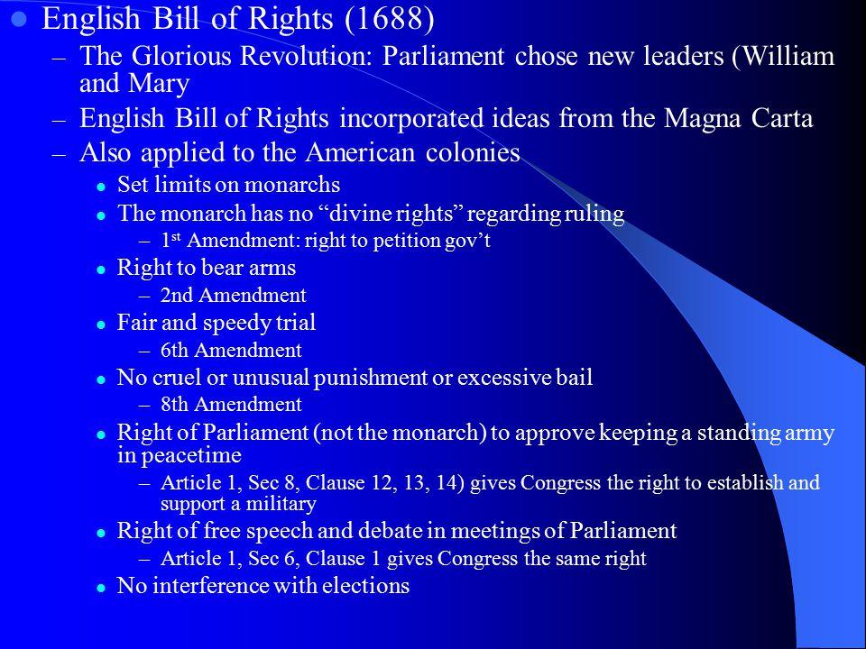 English Bill of Rights (1688)
