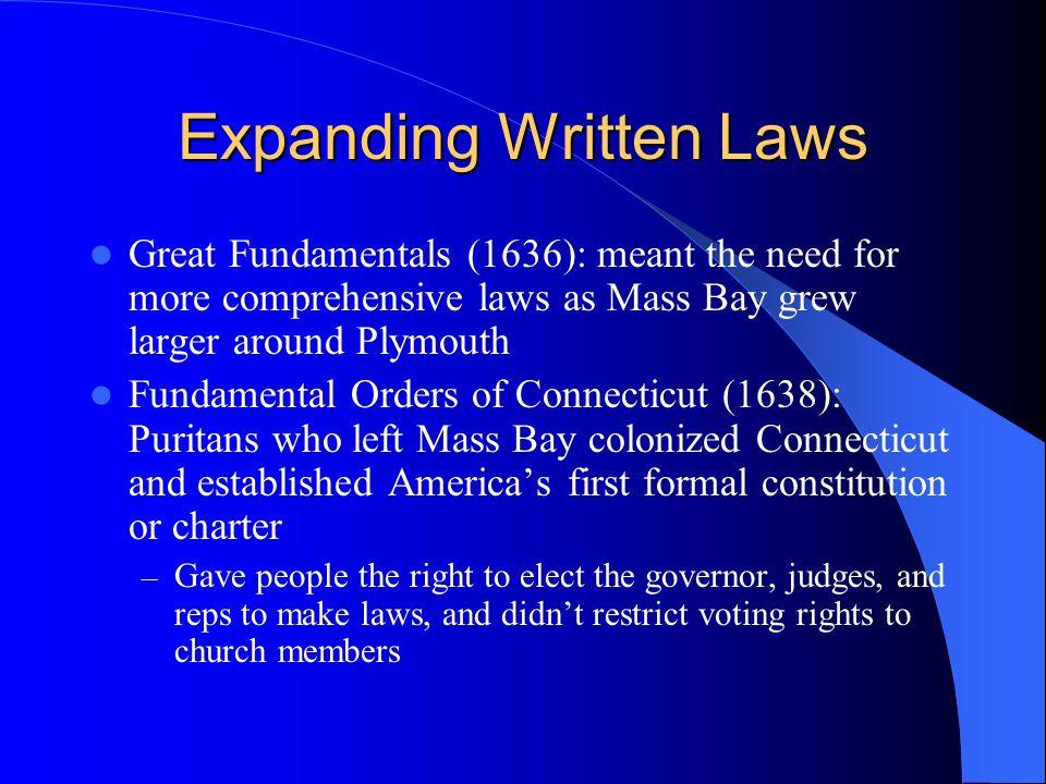 Expanding Written Laws
