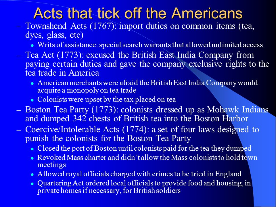 Acts that tick off the Americans