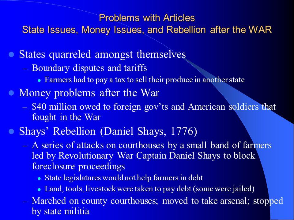 States quarreled amongst themselves