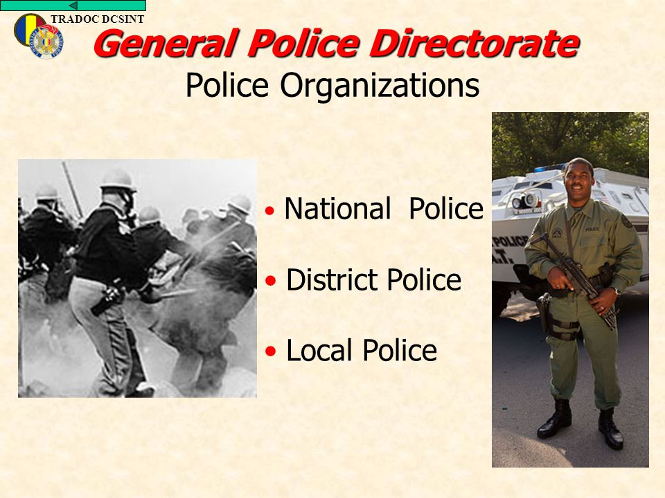 General Police Directorate Police Organizations