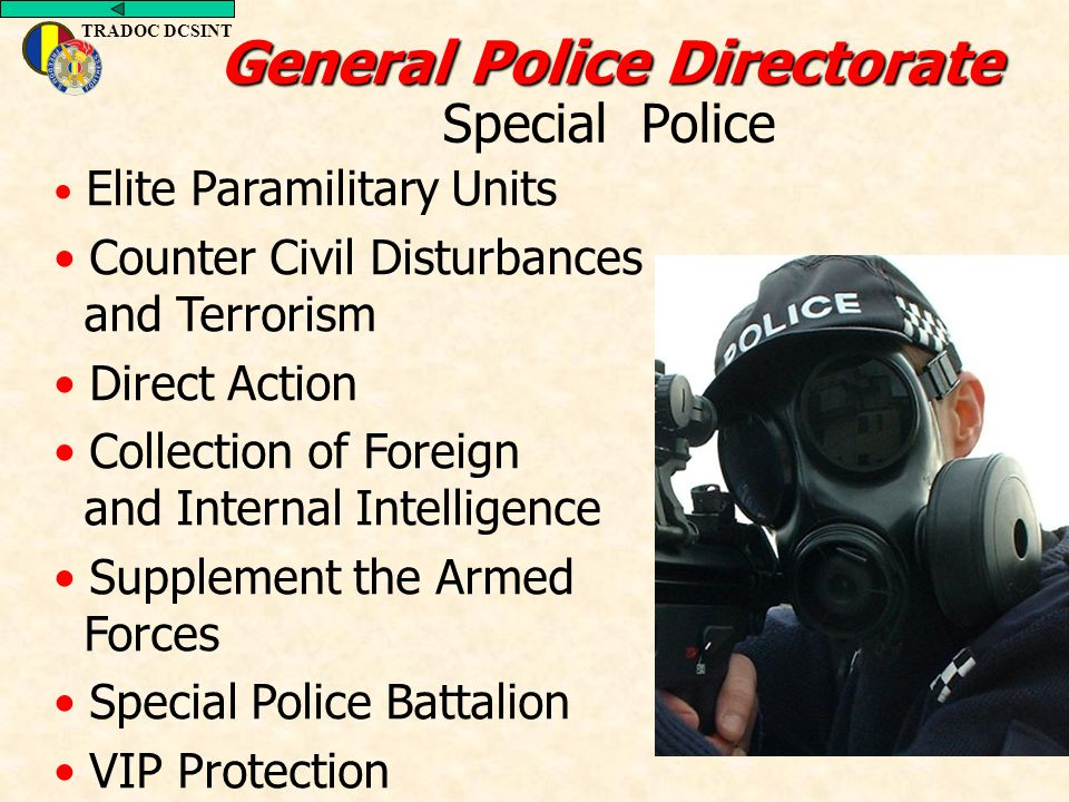 General Police Directorate Special Police