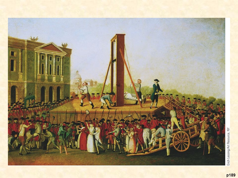 The Execution of Queen Marie Antoinette, 1793 The bloody excesses of the