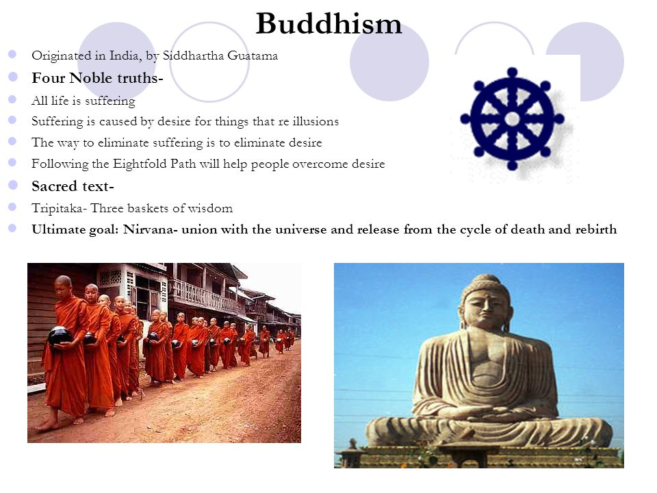 Buddhism Four Noble truths- Sacred text-