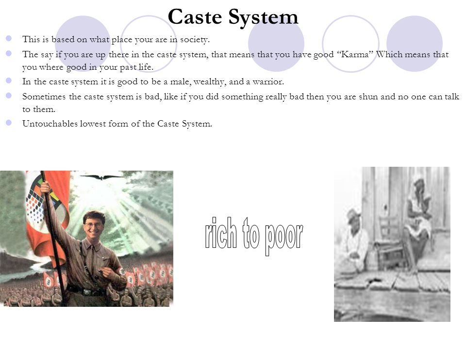 Caste System rich to poor