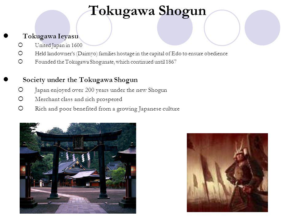 Tokugawa Shogun Tokugawa Ieyasu Society under the Tokugawa Shogun