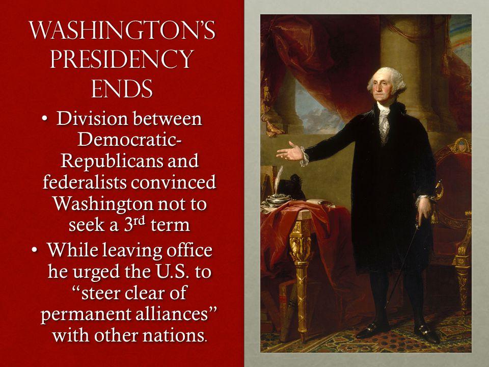 Washington's Presidency ends