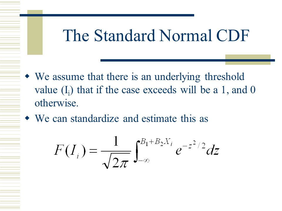 The Standard Normal CDF