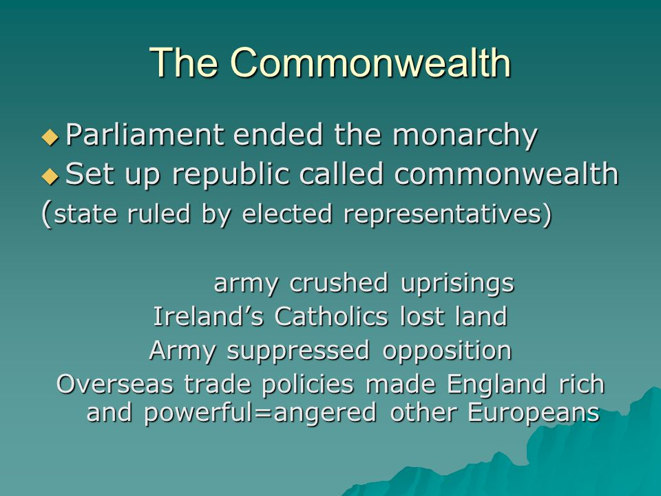 The Commonwealth Parliament ended the monarchy