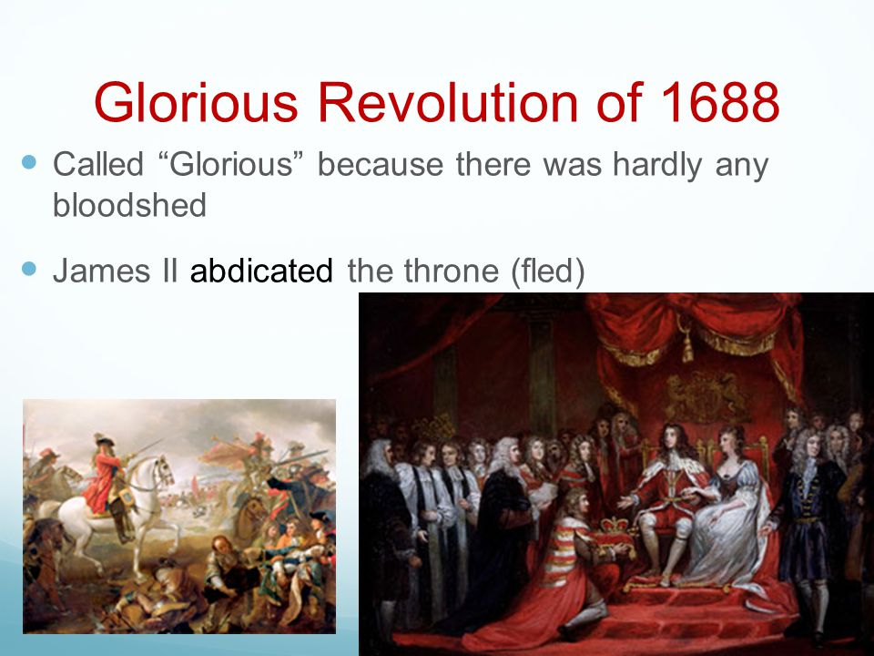 Glorious Revolution of 1688