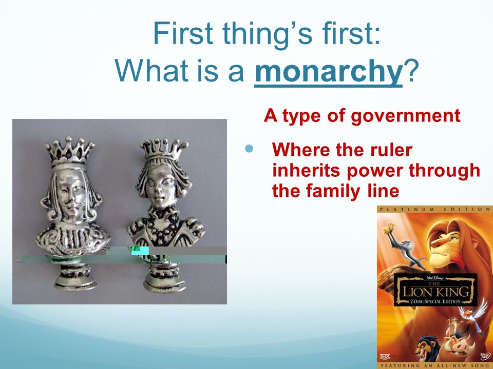 First thing's first: What is a monarchy