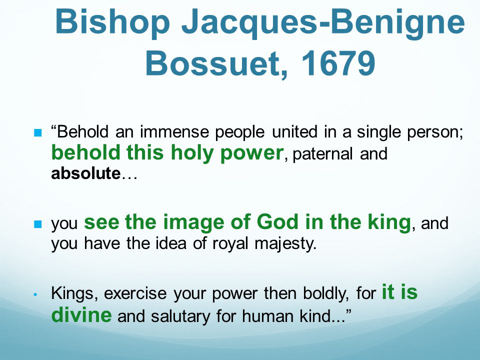 Bishop Jacques-Benigne Bossuet, 1679