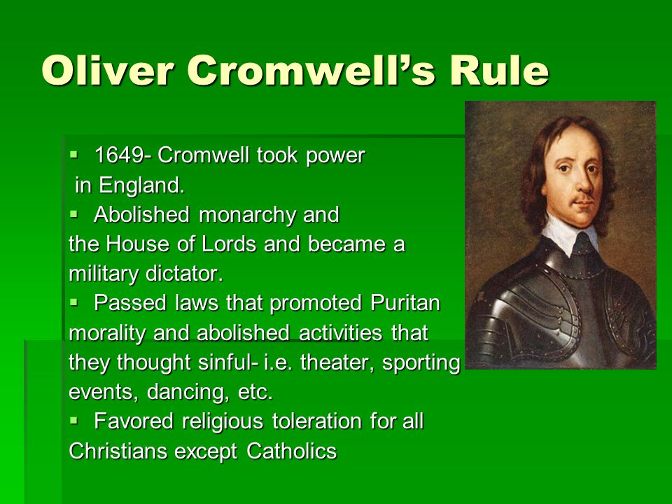 Oliver Cromwell's Rule
