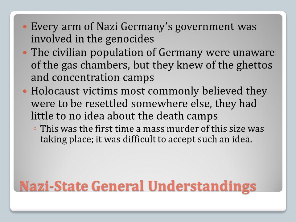 Nazi-State General Understandings