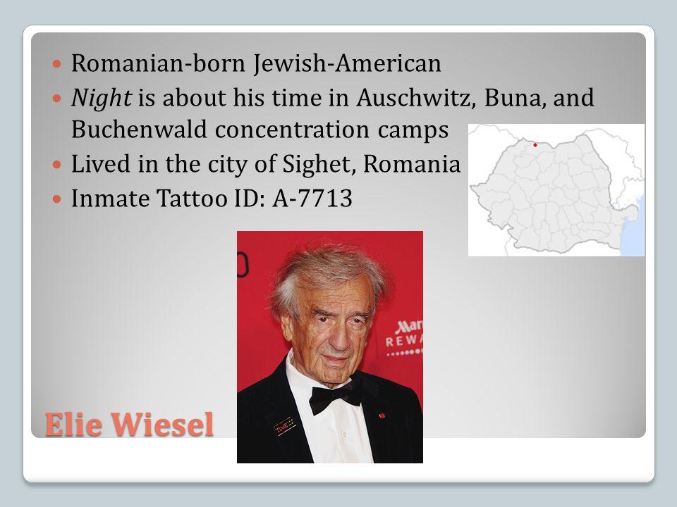 Elie Wiesel Romanian-born Jewish-American