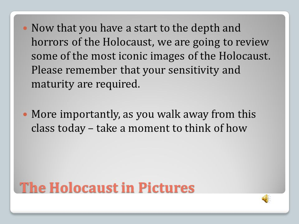 The Holocaust in Pictures