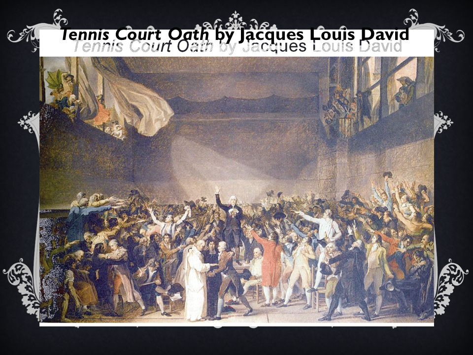 Tennis Court Oath by Jacques Louis David