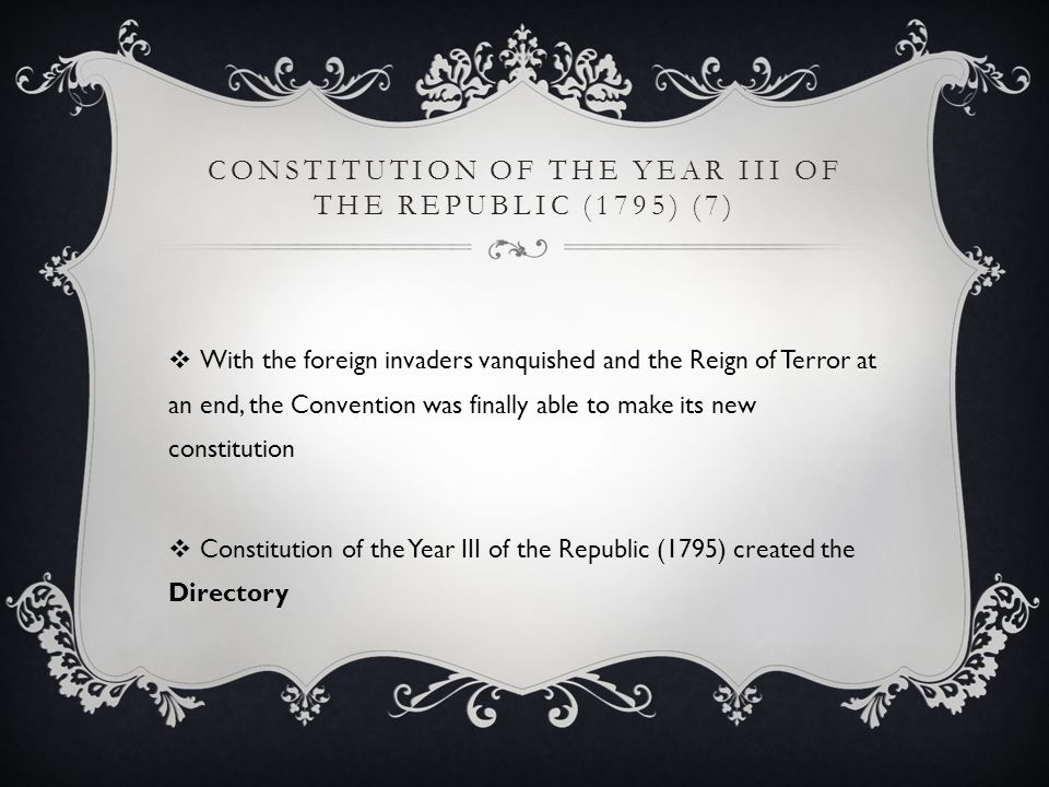 Constitution of the Year III of the Republic (1795) (7)