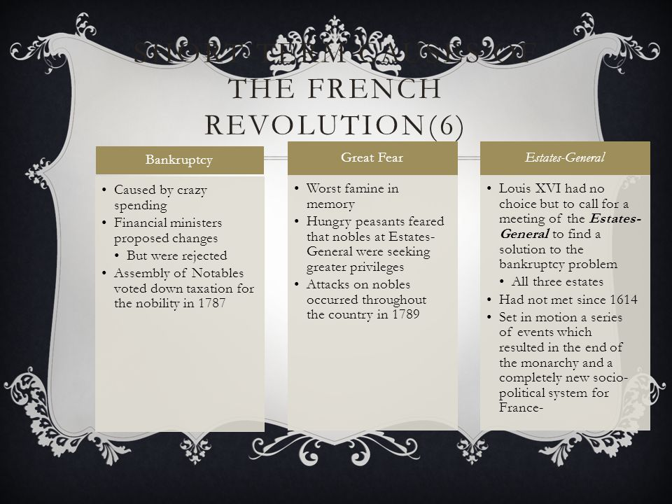Short-term Causes of the French Revolution(6)
