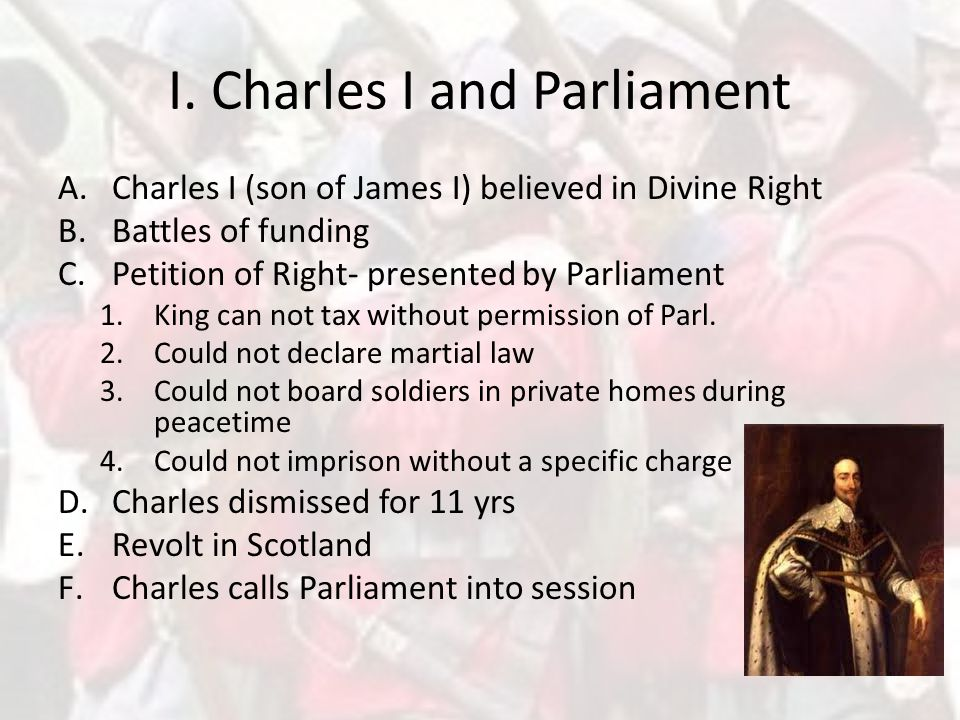 I. Charles I and Parliament