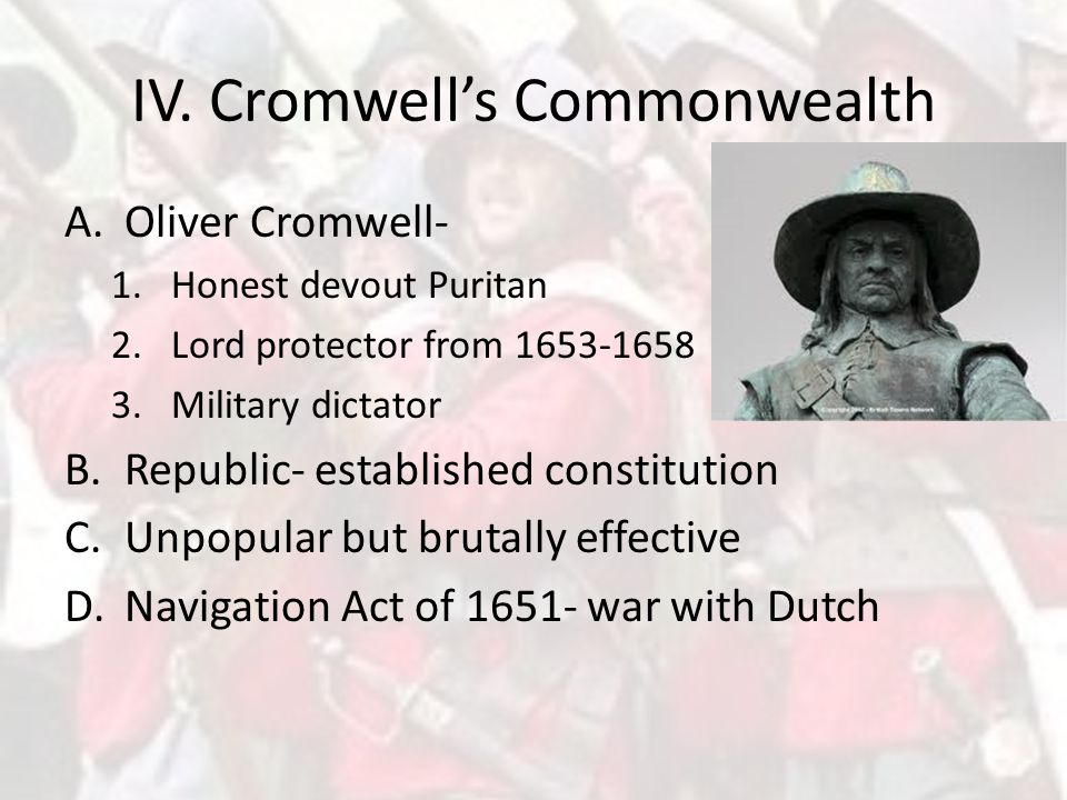 IV. Cromwell's Commonwealth