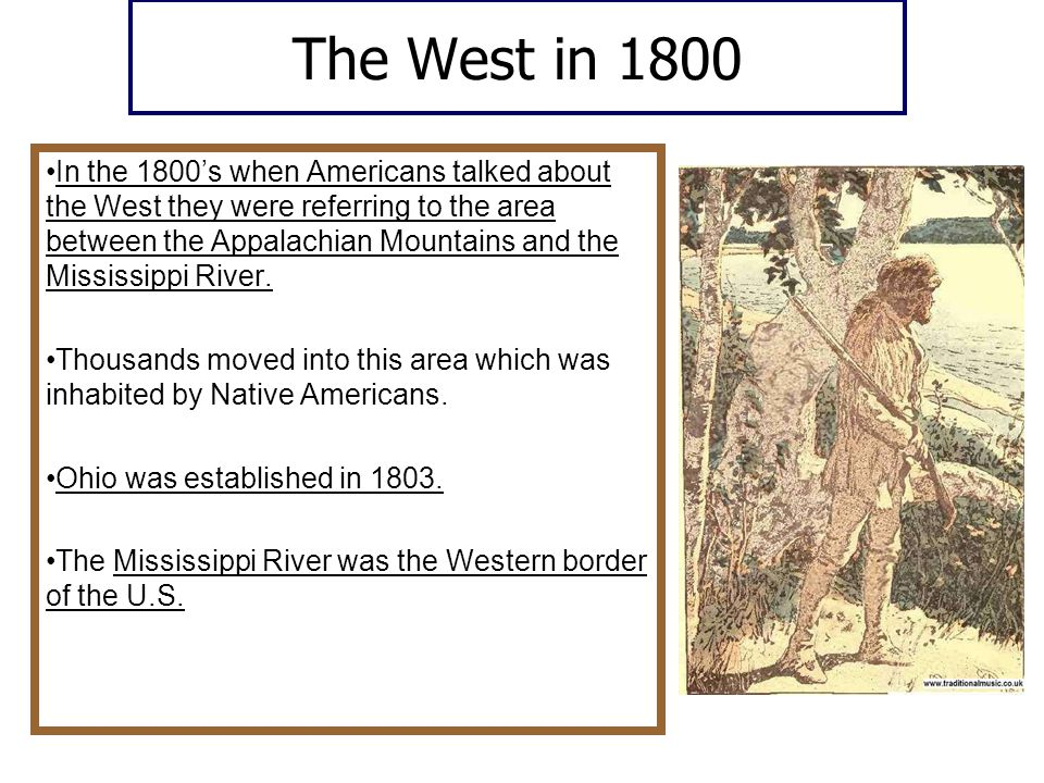 The West in 1800