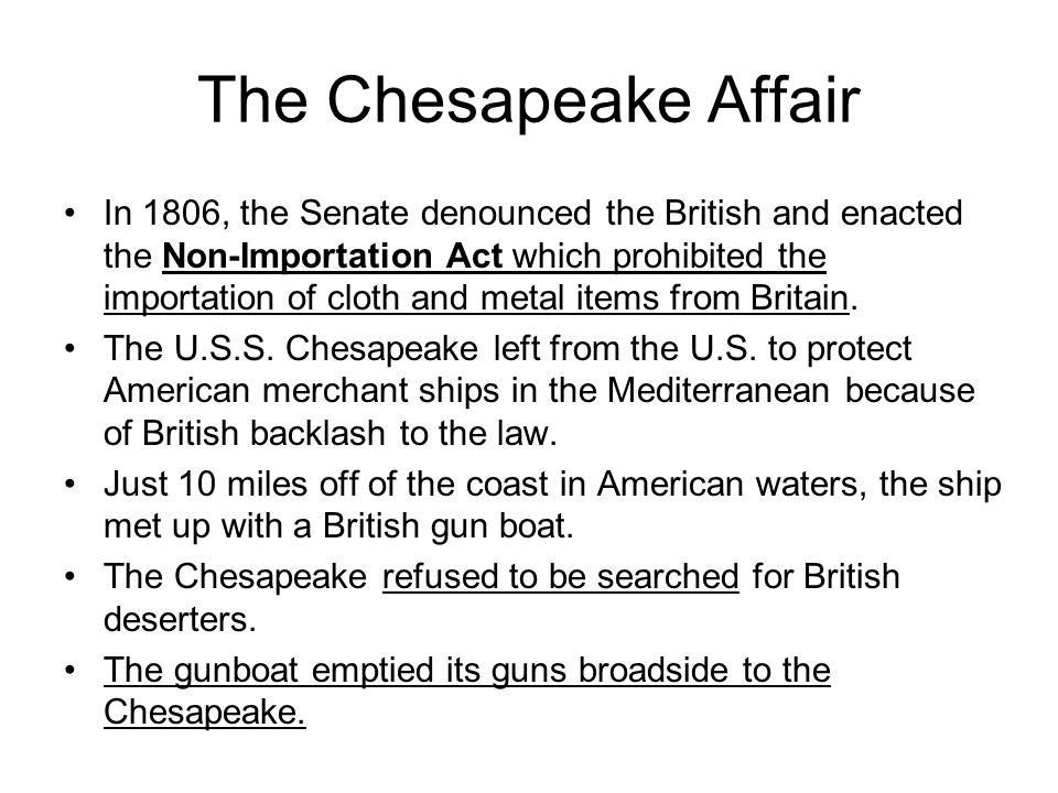 The Chesapeake Affair
