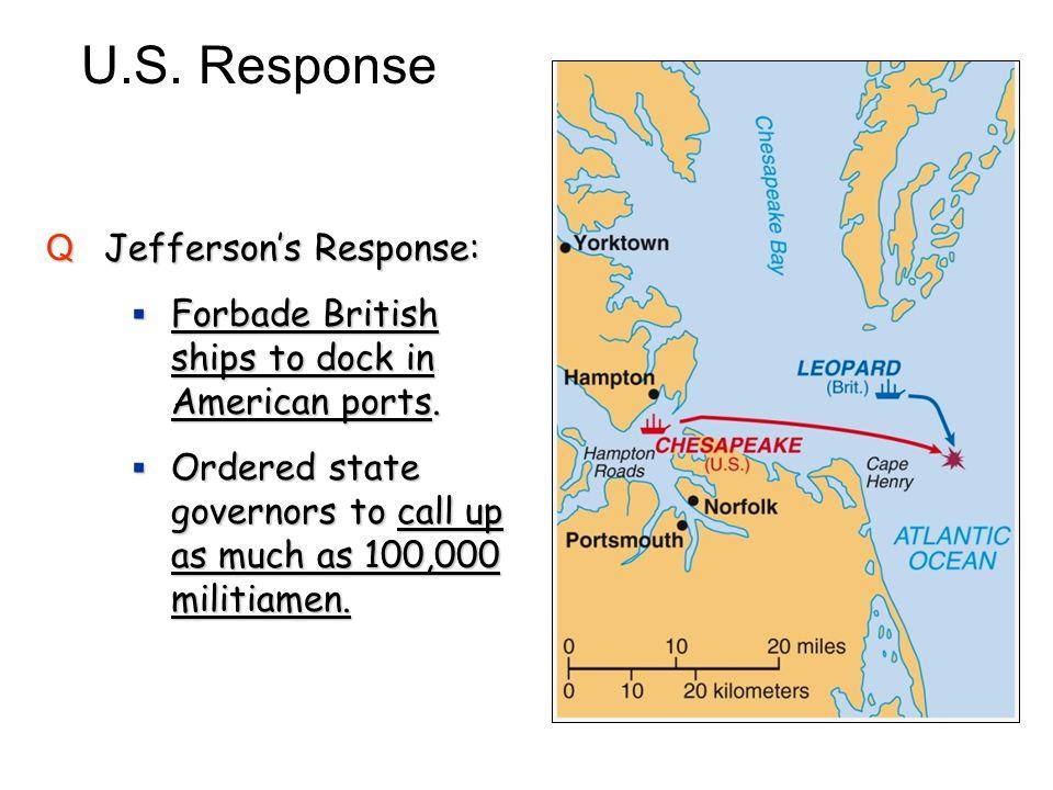 U.S. Response Jefferson's Response:
